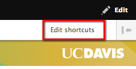 Edit your shortcuts