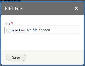 Replace the existing file with a new one.