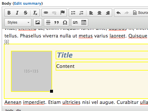 Media link block interface