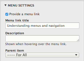 Add a menu link for your page to make it navigable by your visitors.
