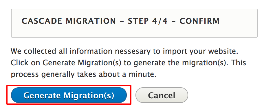 Step 4: confirm your selection