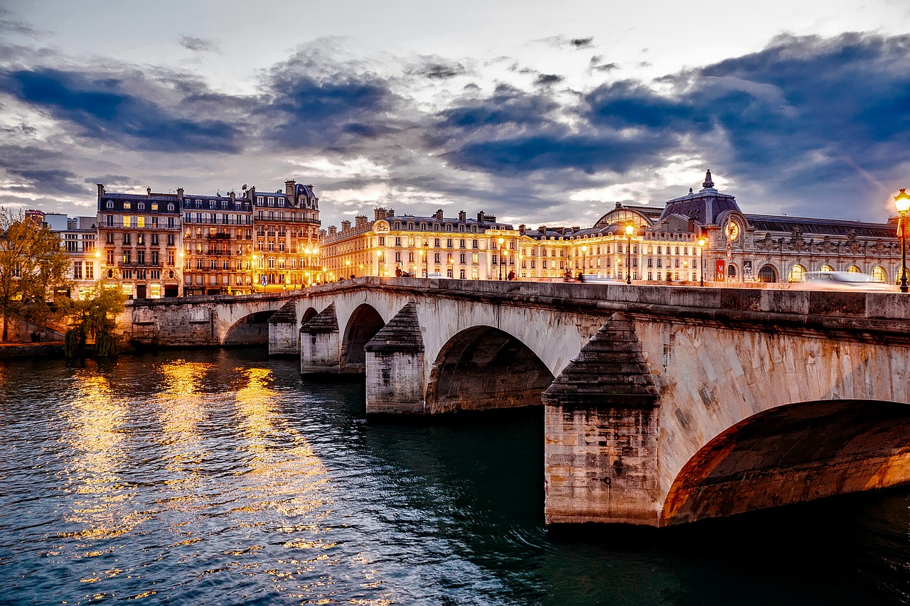 View of a bridge in Paris, France