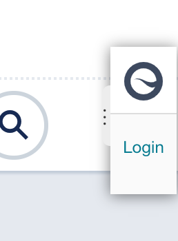 Siteimprove logo and login ribbon