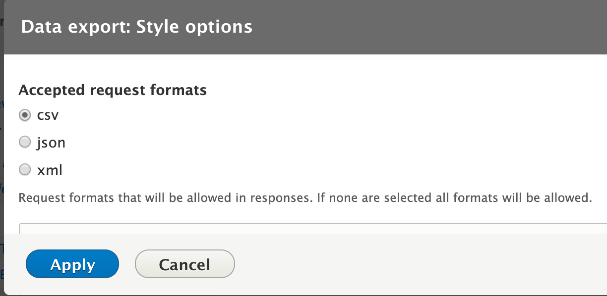 Select your preferred file format type from the available list.