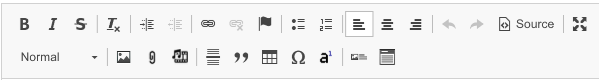 A screenshot of the latest version of the WYSIWYG icon bars.