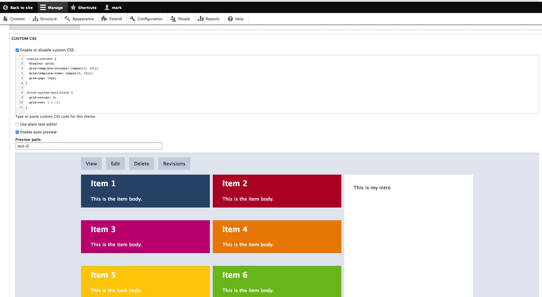 CSS Editor Block Layout Examples   SiteFarm