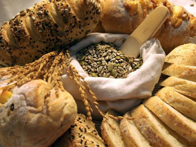 An assortment of homemade breads