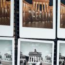 Horizontally aligned polaroid photos of Berlin