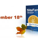 SiteFarm 3.0 Arriving November 18th