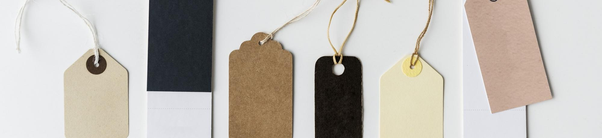 A handful of blank gift tags